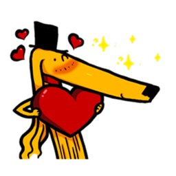 Afghan Hound Dog Emoji Sticker