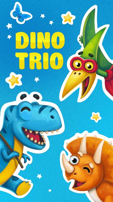 Dino Trio. 恐竜 iMessage ステッカーのスクリーンショット1