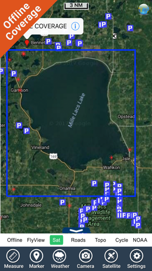 Mille Lacs Lake GPS charts maps Navigator on the App Store on