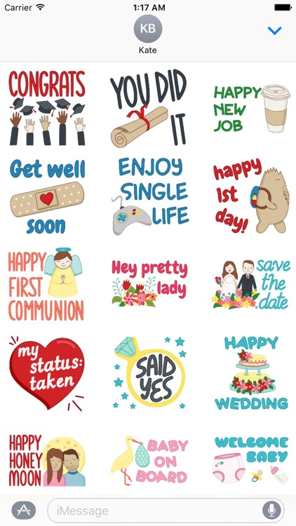 Colorful Greetings Sticker