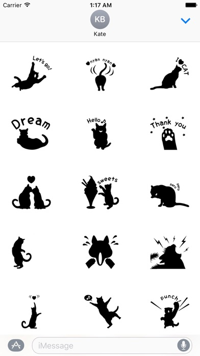 Shadow of Black Cat Stickers screenshot 1
