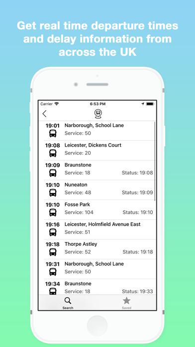 Next Bus - Live Bus Timetables screenshot three