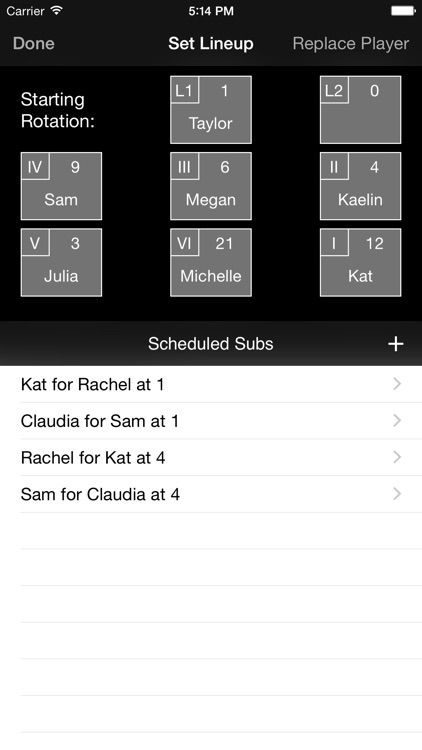 Volleyball Lineup Tracker screenshot-1