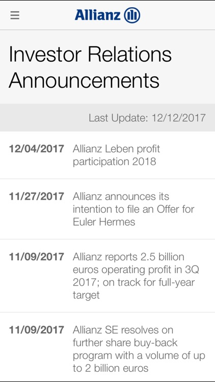 Allianz Investor Relations HD screenshot-3