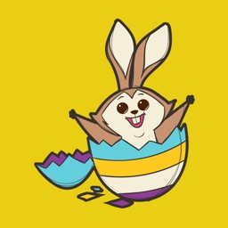 Easter Rabbit 2018 Stickers