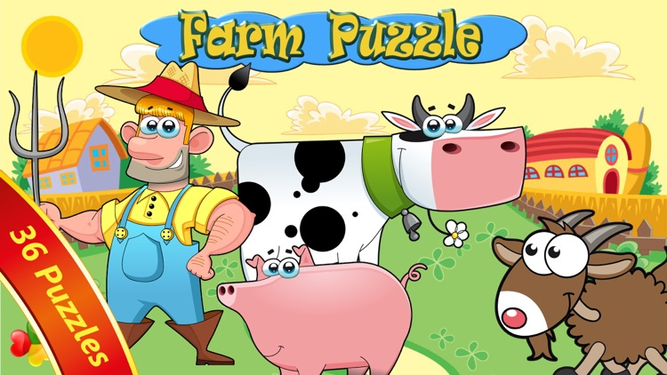 Farm Animals - Puzzle for kids