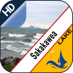 Lake Sakakawea offline nautical chart for boaters