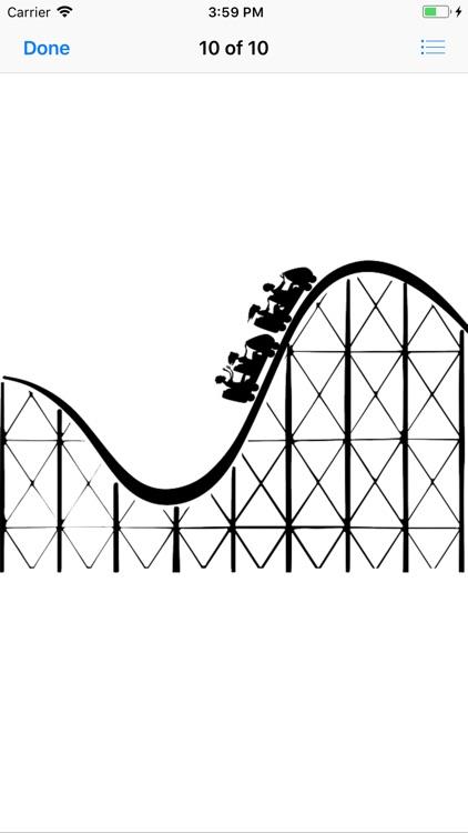 Roller Coaster Stickers screenshot-9