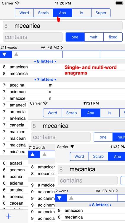 Español Words Finder PRO screenshot-4