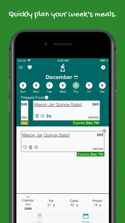 meal prep planner and diary by lean iterations llc