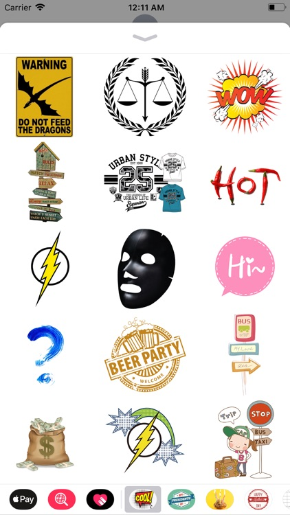 Cool Text Stickers