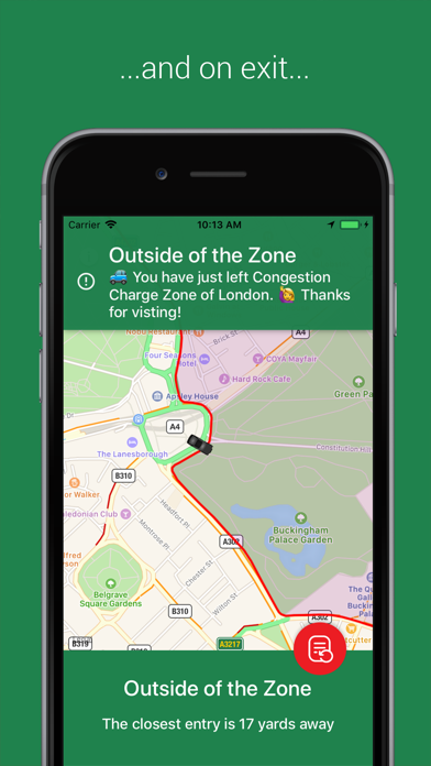 Congestion Zone App screenshot two