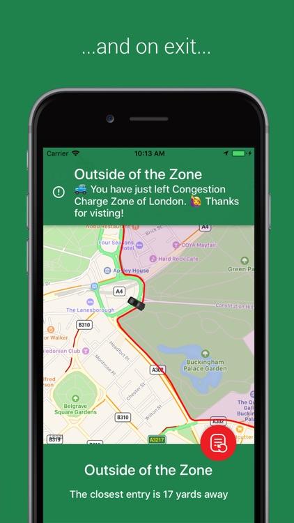 Congestion Zone App