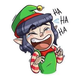 Christmas Santa Funny Sticker