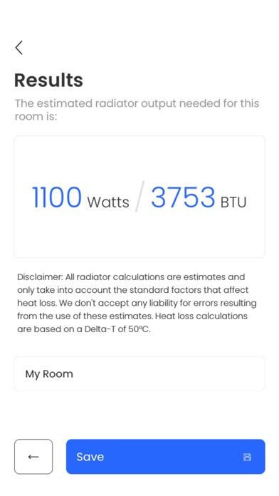 Radiator Calculator Screenshot