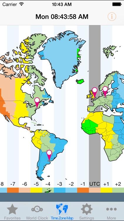World Clock Gold–Time Zones screenshot-4