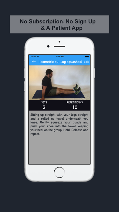 iPhysio: Patient Edition screenshot one