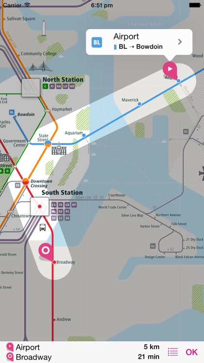 Boston Rail Map