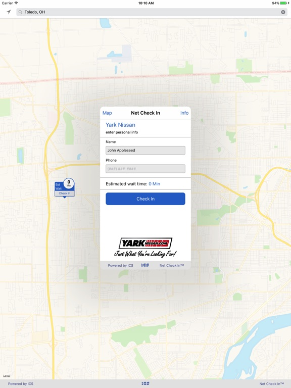 iPad Image of Net Check In - Yark Nissan