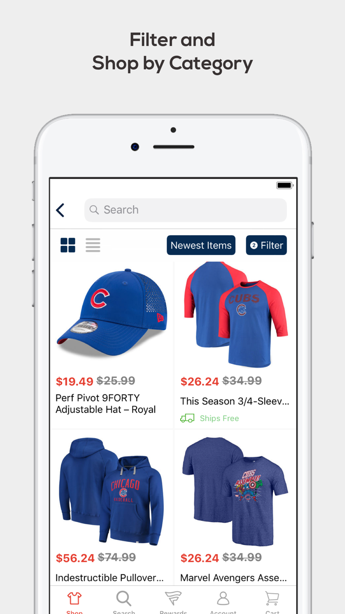 Fanatics: Gear for Sports Fans Screenshot