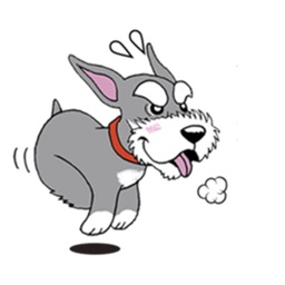 Dwarf Schnauzer Dog Sticker
