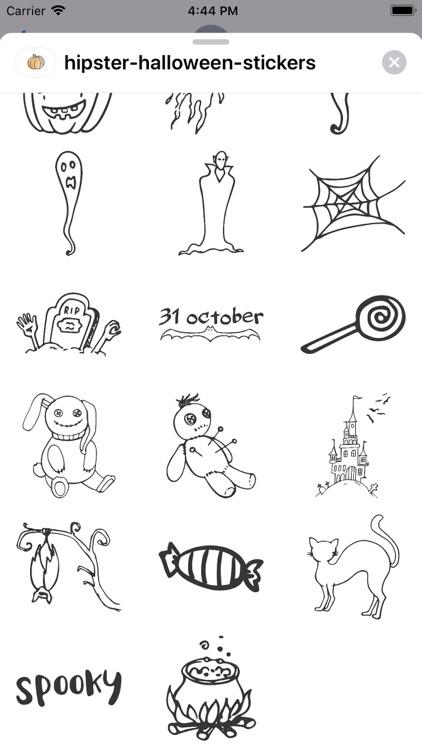 Hipster Halloween Stickers screenshot-6