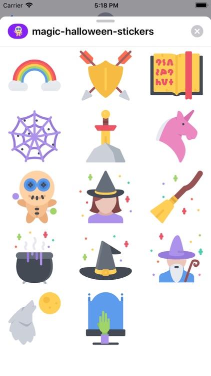 Magic Halloween Stickers screenshot-3