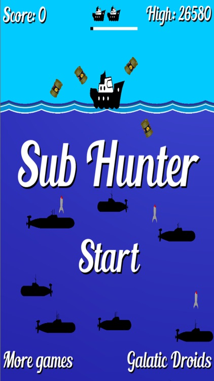 Sub Hunter retro arcade game