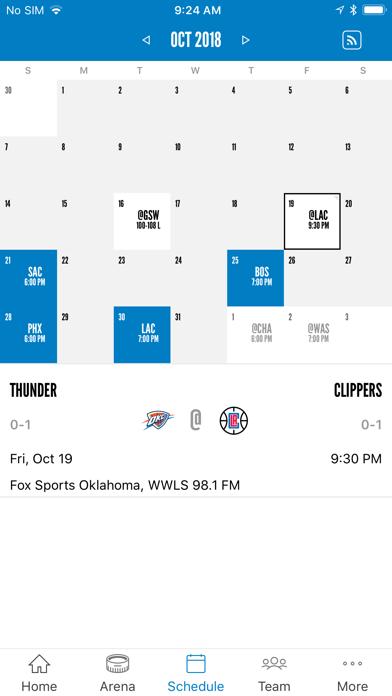 Oklahoma City Thunder screenshot four