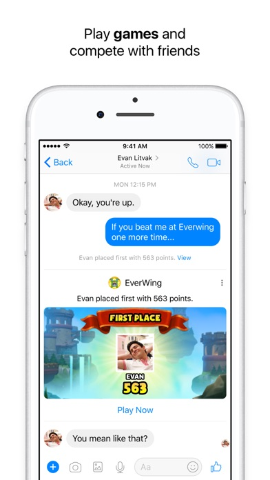 Messenger Screenshot on iOS