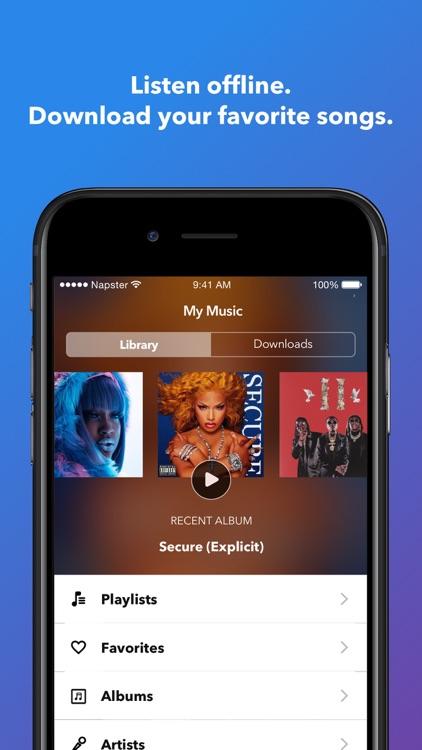 Napster - Top Music & Radio screenshot-3