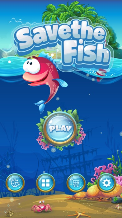 Screenshot for Save The Fish - Physics Puzzle in New Zealand App Store