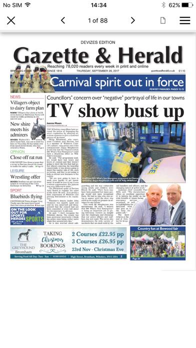 Gazette and Herald screenshot two