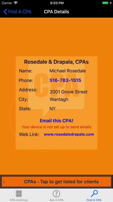 ASK A CPA Tax AnswersScreenshot of 5