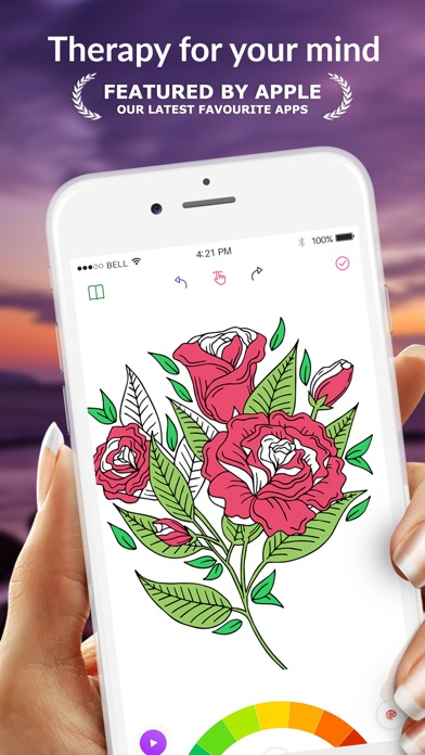 Screenshot for Colorgram: Adult coloring book in United States App Store