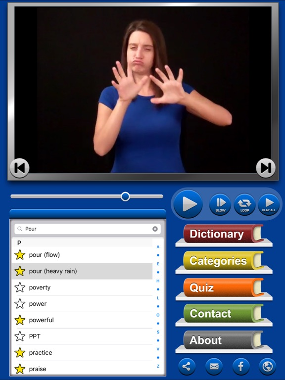 ASL Dictionary HD American Sign Language screenshot