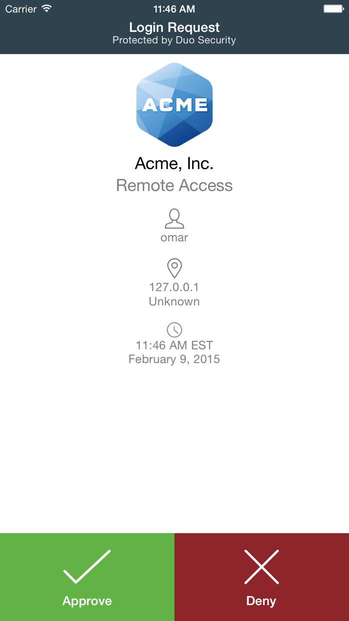 Duo Mobile Screenshot
