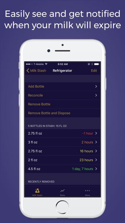 Milk Stash: Breast Feeding App screenshot-3