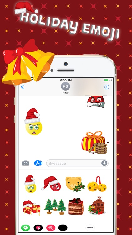 Christmas Holiday 3D Emoji screenshot-1