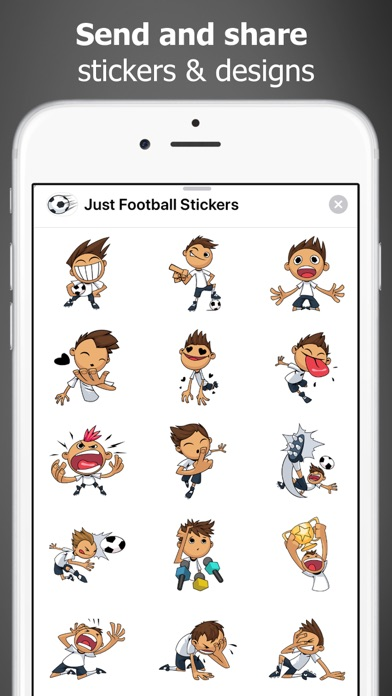 Just Football Stickers screenshot three