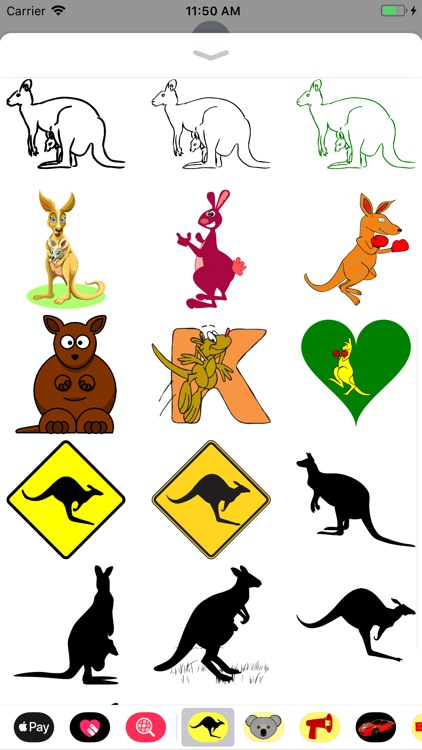 Kangaroo Stickers