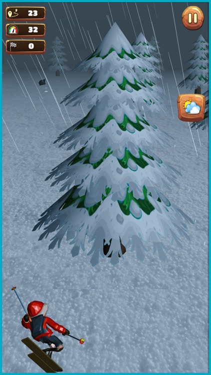 Xtreme hill Skiing Stuntman screenshot-0