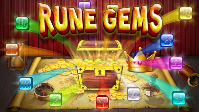 Rune Gems - Block n Tile Crush Screenshot