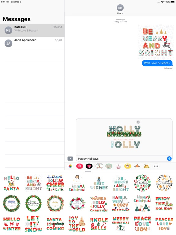 Christmas Lettering Stickers . screenshot 7