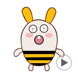 Rabbee - Rabbit Bee Emoji GIF