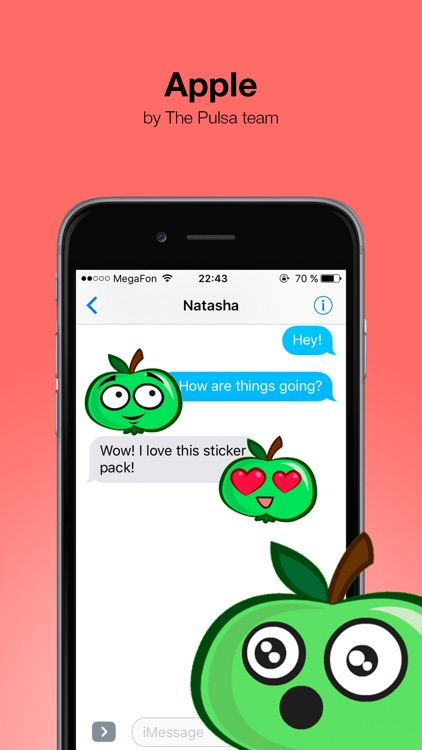 Apple animated - Cute stickers screenshot-0