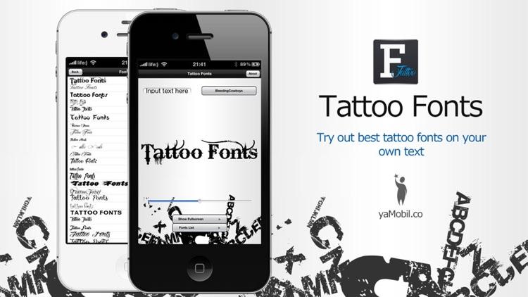 Tattoo Fonts - design your text tattoo