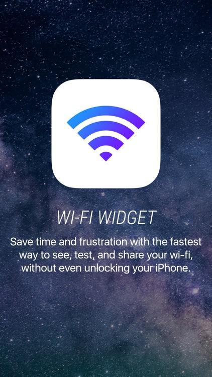 Wifi Widget - See, Test, Share screenshot-0