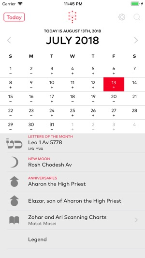 Kabbalistic Calendar on the App Store