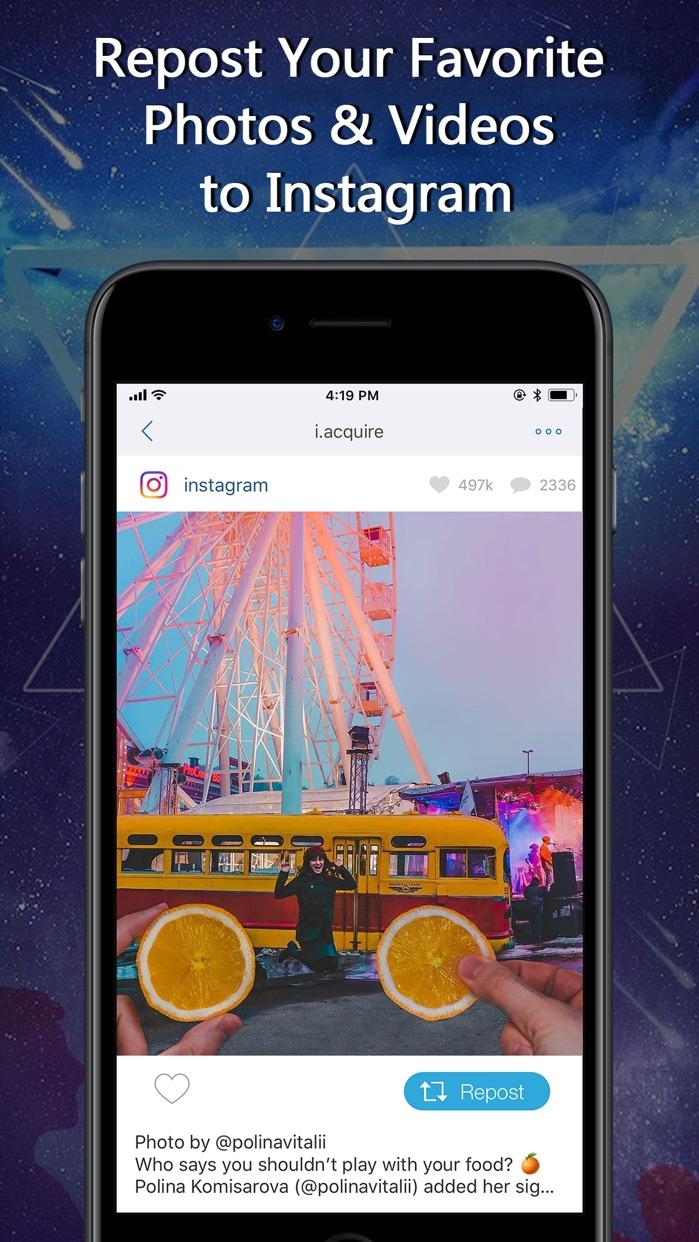 Repost for Instagram -IG Posts Screenshot